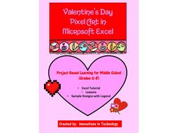 Valentine's Day Pixel Art in Microsoft Excel
