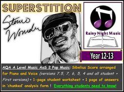 AQA A Level Pop Music Stevie Wonder Superstition