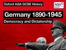 New AQA GCSE Germany 1890-1945 SOW Part 1/3