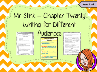 Writing for Different Audiences; Complete Lesson  – Mr Stink