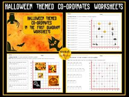 Halloween Coordinates Worksheets