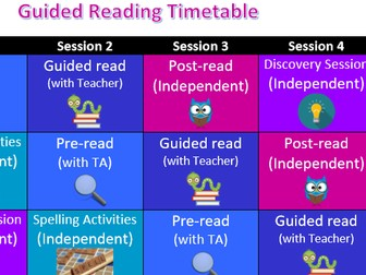 Easy Guided Reading Carousel Package
