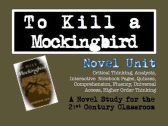 To Kill a Mockingbird No Prep Novel Unit