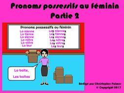 French: Possessive pronouns - Part 2 (Feminine form)