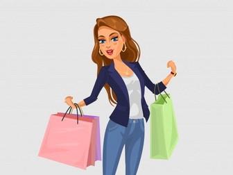 La Ropa / De compras - Spanish Worksheet on Clothing Shopping (Partner Activity)