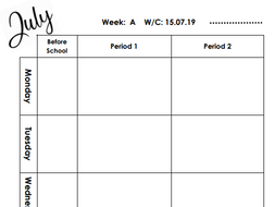 Teacher Planner Inserts For Filofax A5 By LST Physics
