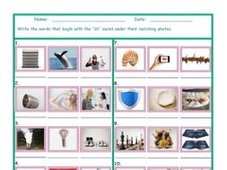 Phonics 2 Letter Digraph SH Photo Worksheet