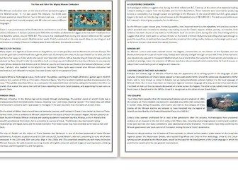 The Rise and Fall of the Mighty Minoan Civilization - Reading & Comprehension Exercises