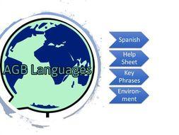 Spanish Key Phrases/Environment Vocab