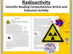 Radioactivity Comprehension Reading KS3 and KS4
