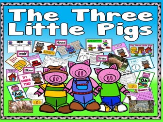 THREE LITTLE PIGS STORY TEACHING RESOURCES EYFS KS 1-2 ENGLISH LITERACY ANIMALS EARLY YEARS