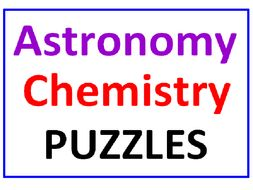 Astronomy Word Search Puzzle PLUS Chemistry Word Search Puzzle