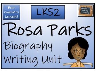 LKS2 History - Rosa Parks Biography Writing Activity