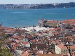 Lisbon Panorama Video of City Centre from Castelo de Sao Jorge