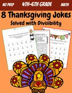 5th grade Math: Division and Divisibility: Thanksgiving Jokes