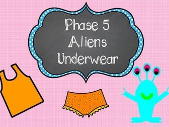 Phonics Screening -  Phase 5 Aliens Underwear