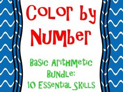 Basic Math Skills Color by Number Bundle