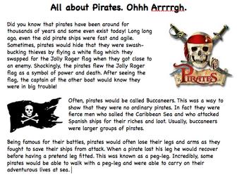 Pirates Information Text
