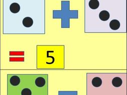 Addition and Subtraction Animated Dice Fun PPT