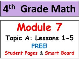 FREE-Grade 4 Math Module 7, Topic A: Lessons 1-5 Smart Bd, Student Pgs & HOT Q's