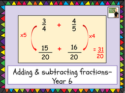 Maths- adding & subtracting fractions- Year 6