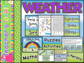 Weather | Weather Activities | Literacy and Maths
