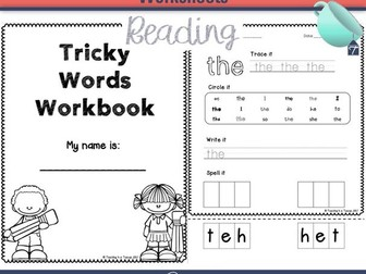 Tricky Words Worksheets - Phonics