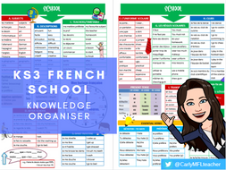 KS3 French School Topic Knowledge Organiser
