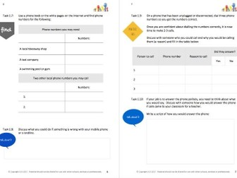 DAY-TO-DAY LITERACY - USE YOUR WORDS (1) - DAILY LIVING literacy workbooklet