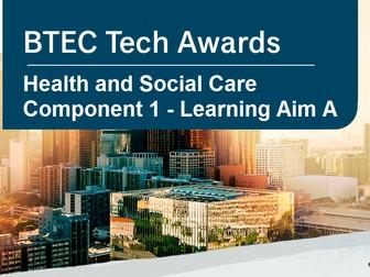 L2 BTEC Tech Health & Social Care - C1 LA. A (Life stages)