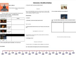 Historyonics - Battle of Hastings 1066- Worksheet to support the BBC TV programme