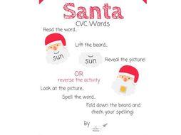CVC Word Santas