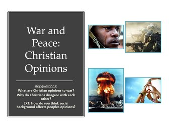 Christian opinions to War