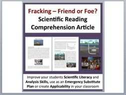 Hydraulic Fracturing - Fracking: Friend or Foe - Science Reading Article