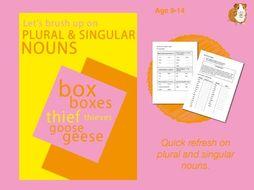 Using Plural & Singular Nouns (9-14 years)