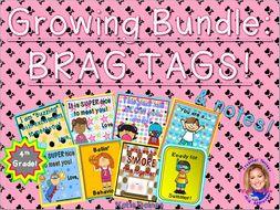 GROWING BUNDLE: Brag Tags! (Fourth Grade)