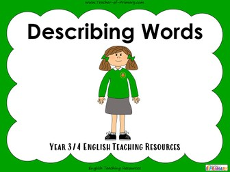 Describing Words - Year 3 / Year 4