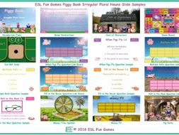 Irregular Plural Nouns Piggy Bank English PowerPoint Game