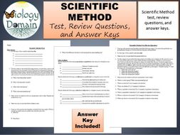 Scientific method Test, Review Questions, and Answer Keys ...