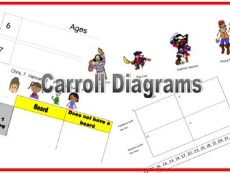 KS1/KS2 Carroll Diagram Pirates