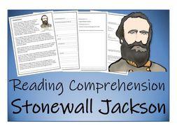 UKS2 History - Stonewall Jackson Reading Comprehension Activity