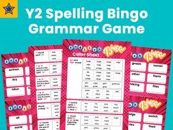 Year 2 Spelling Bingo Grammar Game