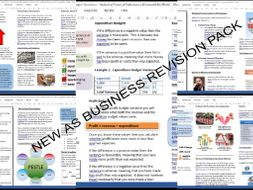 BRAND NEW COMPLETE AS AQA Business Revision Pack