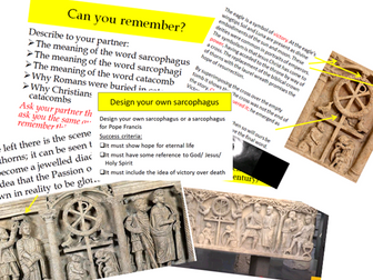 Eduqas Route B Component 2 Edexcel A Life & Death.Beliefs about eternal life in Christian Sarcophagi