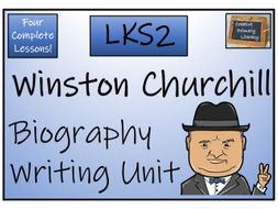 LKS2 History - Winston Churchill Biography Writing Activity