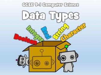 GCSE 9-1 Computer Science: Algorithm Design - Data Types
