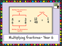 Maths- Multiplying fractions- Year 6