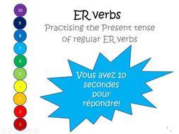 ER verbs present tense translation game