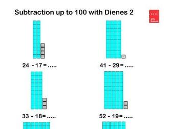 Subtracting with  Dienes. Worksheets & Teaching Resource