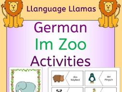 German Zoo Animals - Im Zoo - Activities Pack